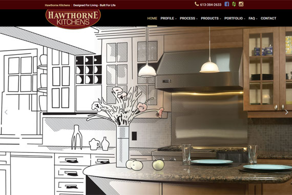 Revue Design, Belleville - Website Design for Hawthorne Kitchens